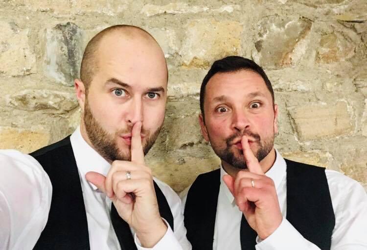 Surprise Singing Waiters saying Shhhh